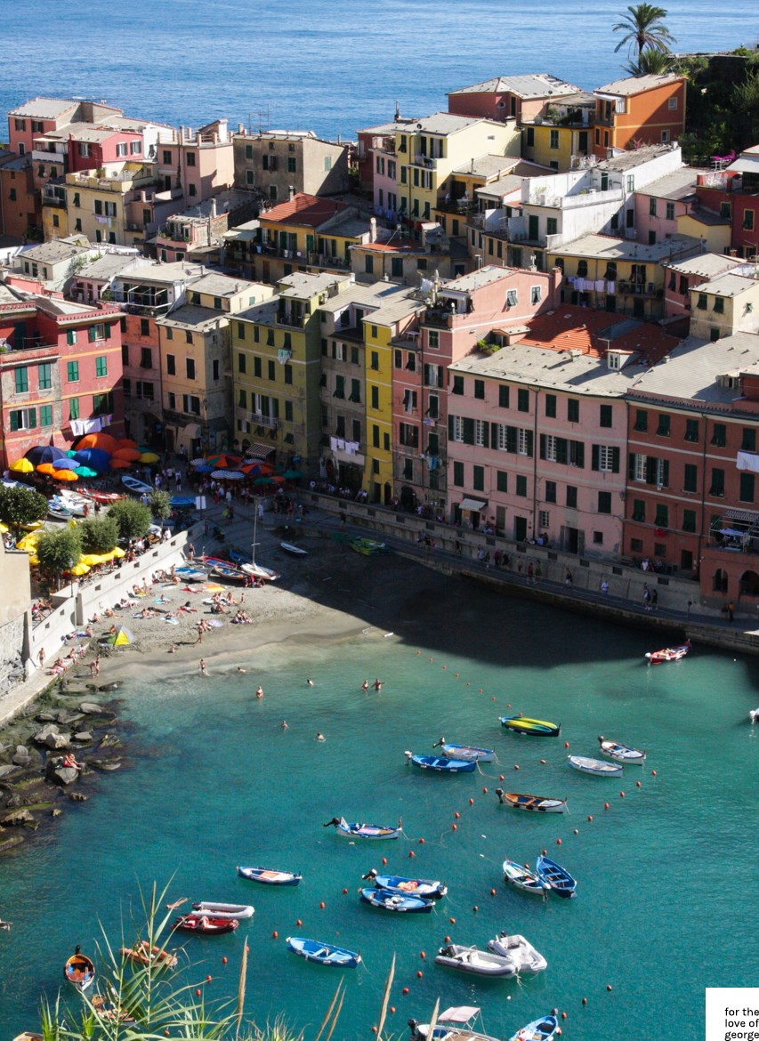 Travels in Italy: Cinque Terre; on For the Love of George
