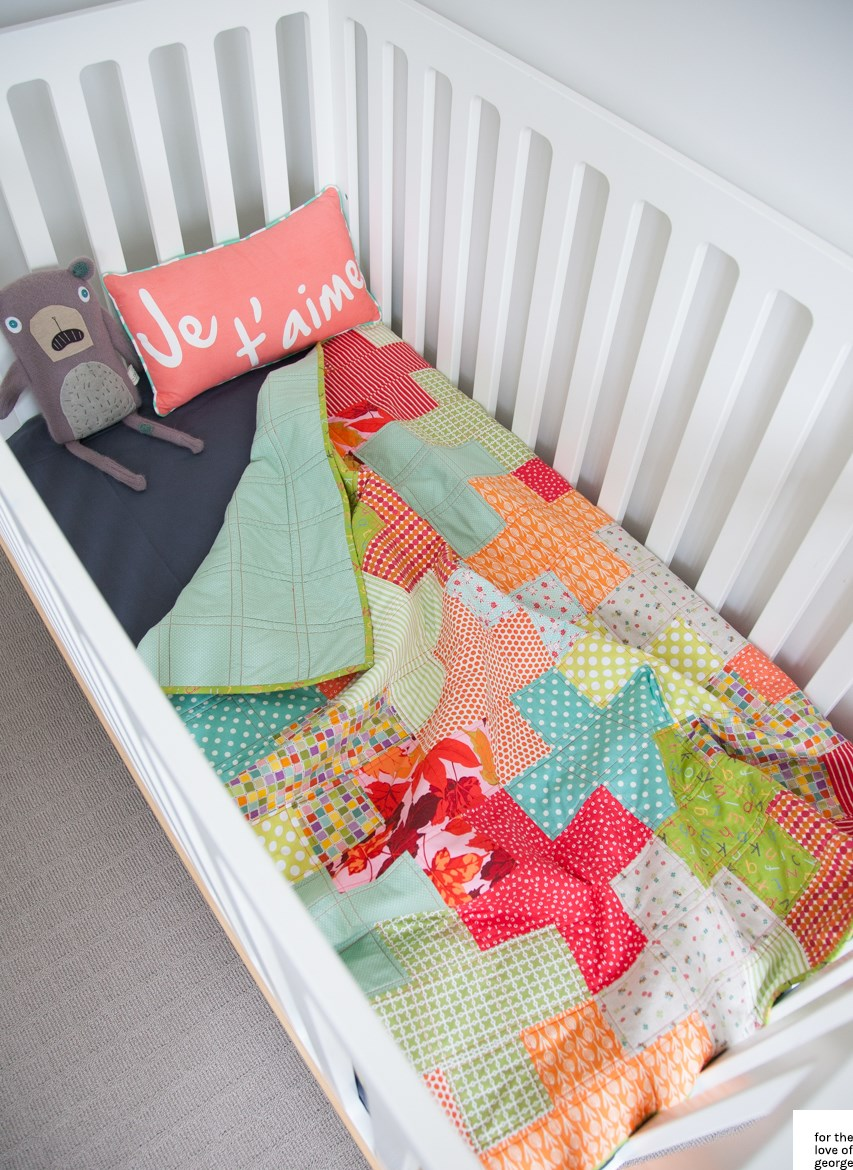 Plus Quilt tutorial - cot size – a free download from For the Love of George