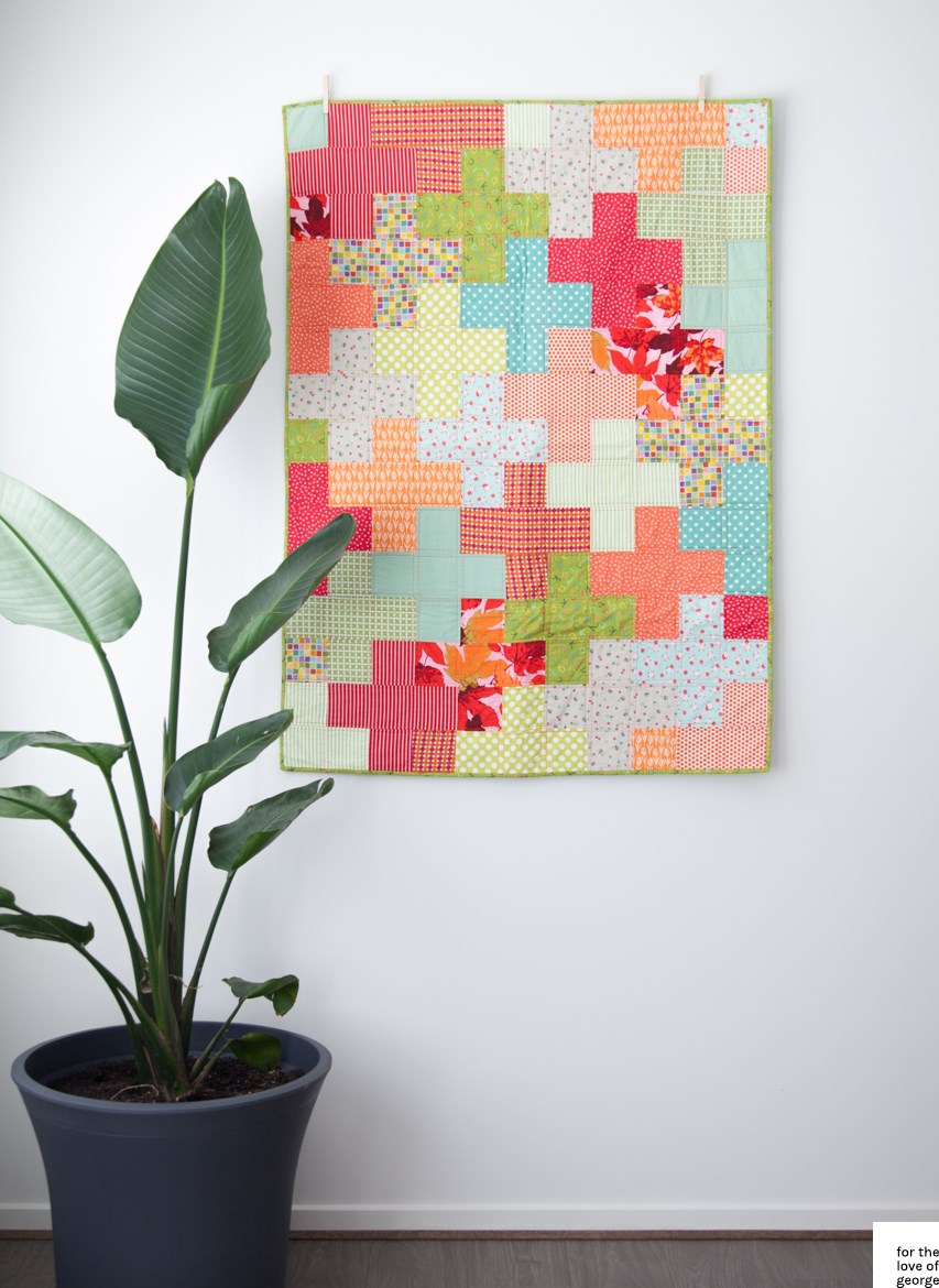 Plus quilt pattern tutorial free to download from For the Love of George
