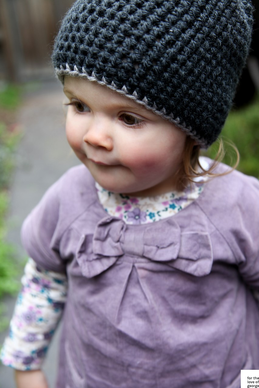Kids crochet beanie on For the Love of George