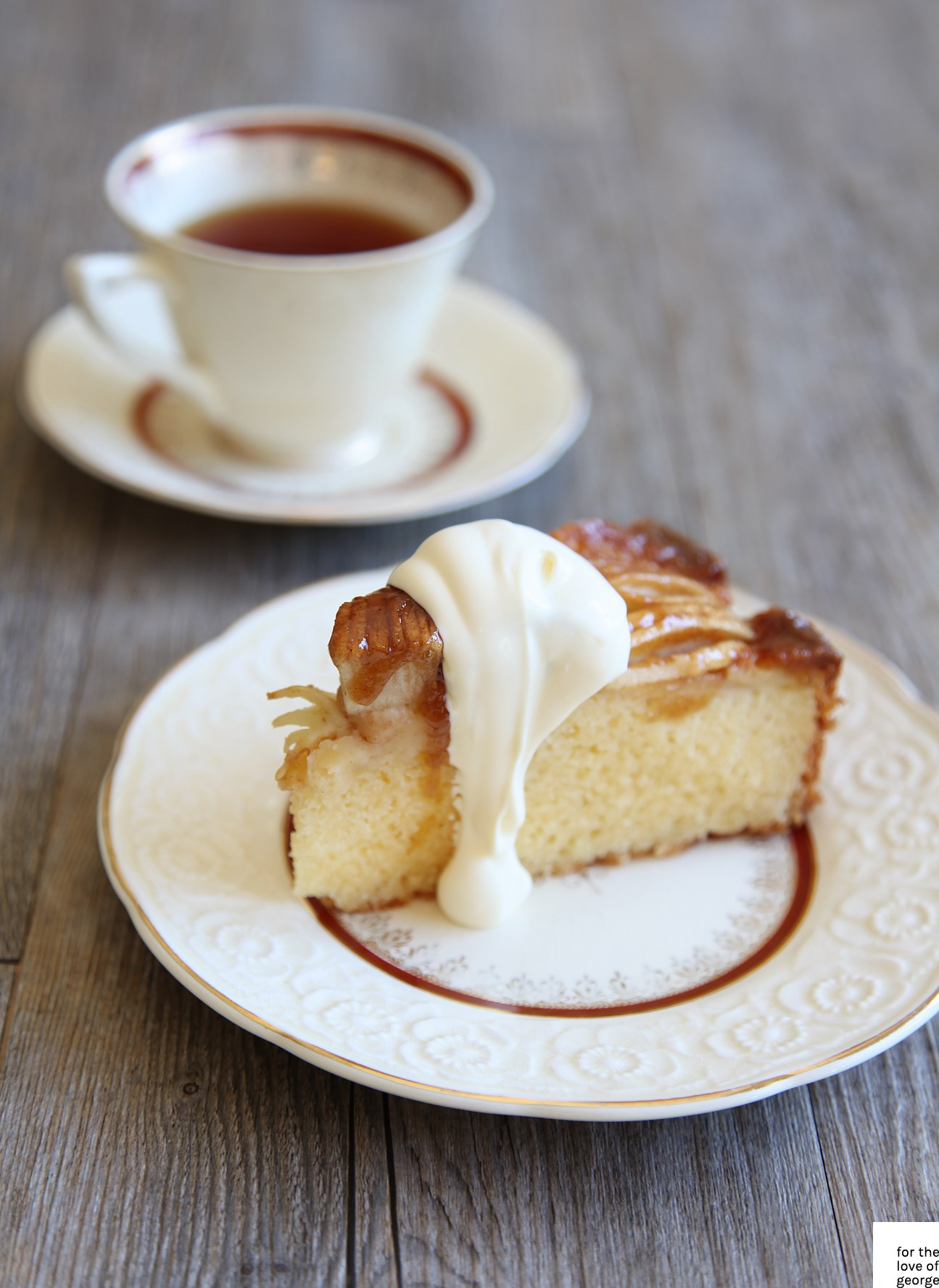 Apple Tea Cake recipe on For the Love of George