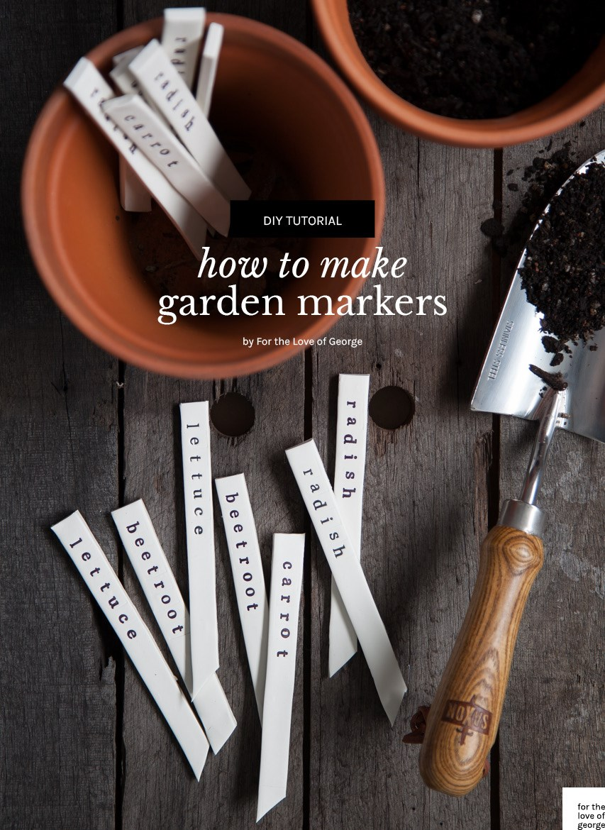 DIY Garden Markers tutorial on For the Love of George