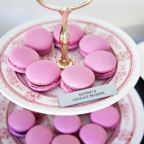 Beetroot and chocolate macaron recipe on For the Love of George