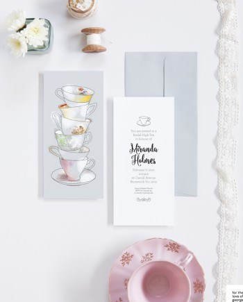 High Tea Bridal Shower invitations on For the Love of George