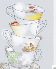 For the Love of George – Invitation – Tea Cups – detail
