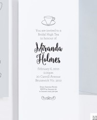 For the Love of George – Invitation – Tea Cups – detail2