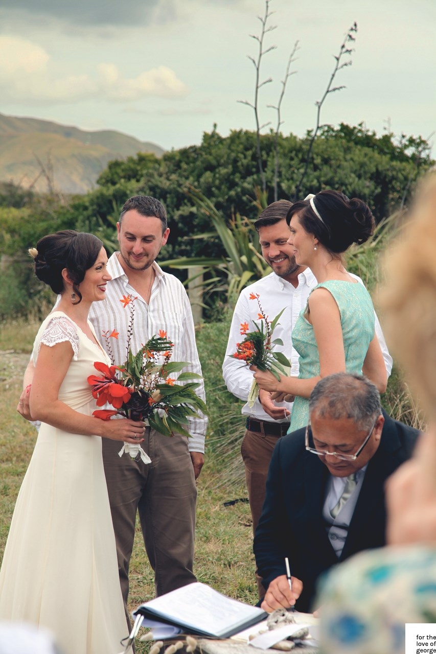 A New Zealand wedding on For the Love of George